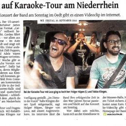 WZ 30.09.2016 – auf Karaoketour am Niederrhein